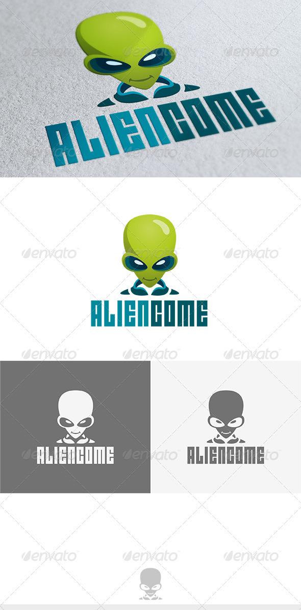 GraphicRiver Alien Come Logo 3652178