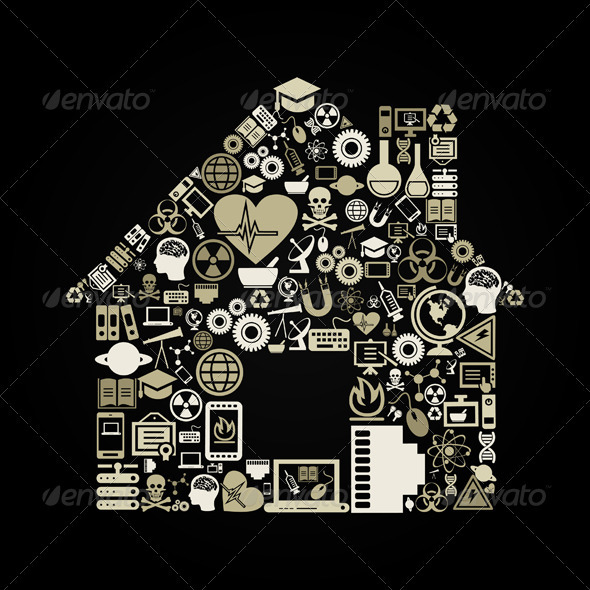 GraphicRiver Science the House 3652716