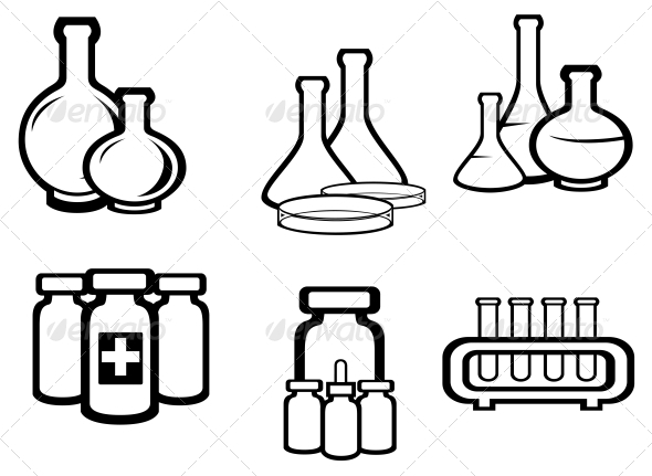 GraphicRiver Science and Medical Flasks 3653152