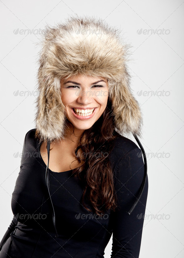 PhotoDune Girl with a fur hat 3661583