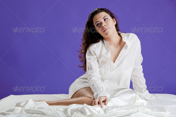 PhotoDune Beautiful woman waking up 3661595