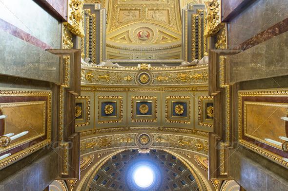 PhotoDune St Stephen s Basilica ceiling 3653942