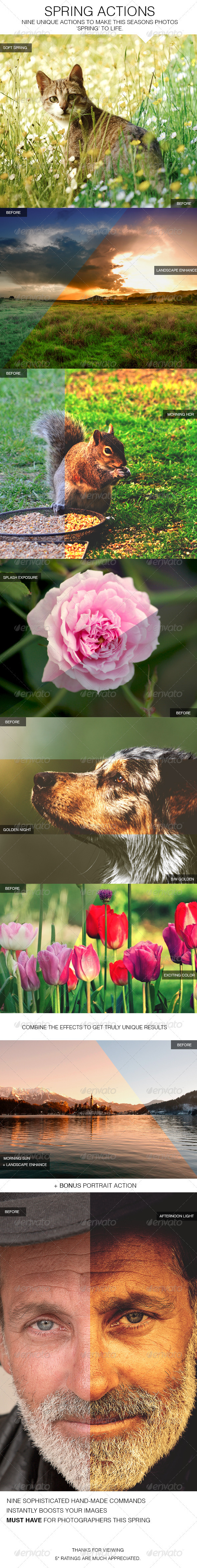 GraphicRiver Spring Actions 3654072