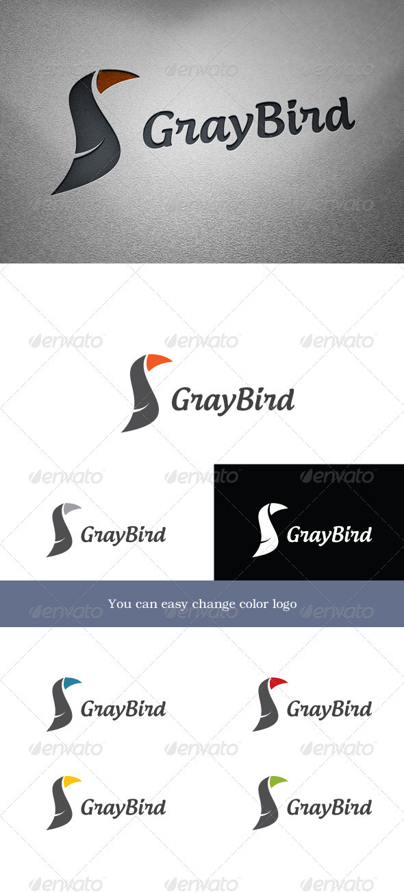 GraphicRiver GrayBird Logo 3654161