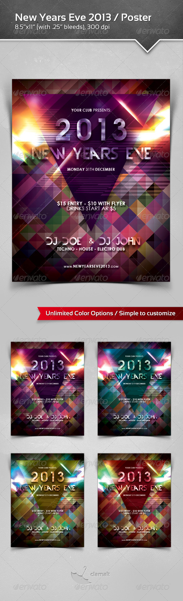 GraphicRiver New Years Eve 2013 Poster 3655161