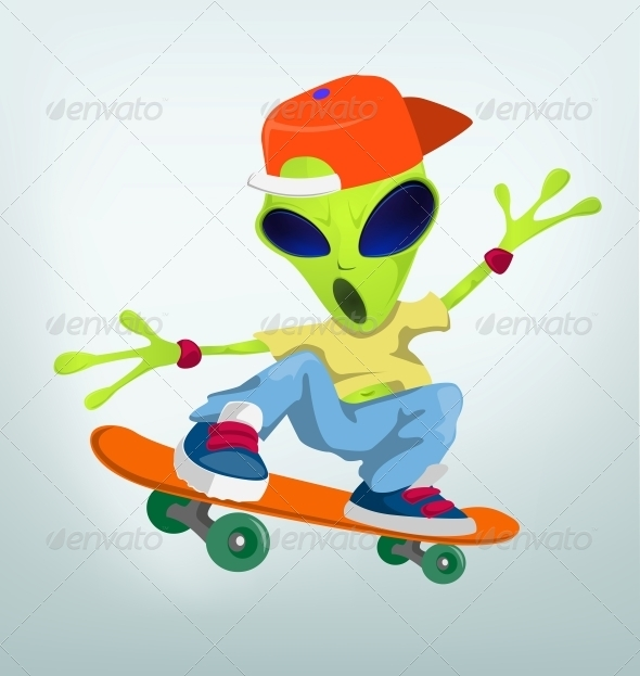 GraphicRiver Cartoon Character Alien 3655179
