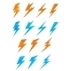 Lightning Symbols - GraphicRiver Item for Sale