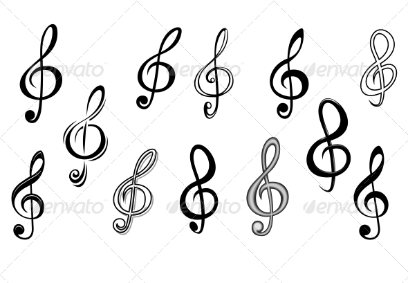 GraphicRiver Music Note Keys 3656255