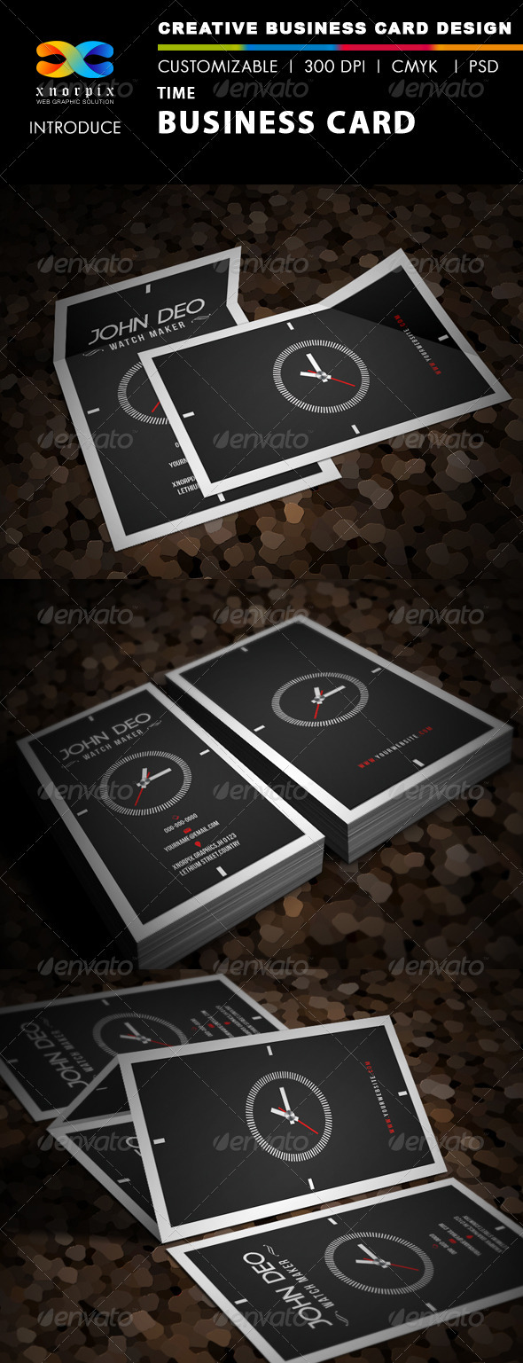 Time Business Card - Industry Specific Business Cards