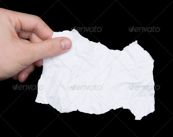 Hand and paper note - Stock Photo - Images