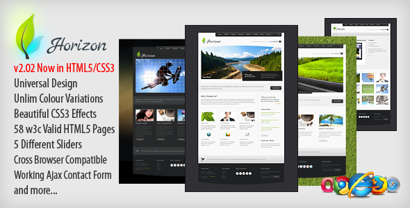 Horizon Premium xHTML Template - Business Corporate