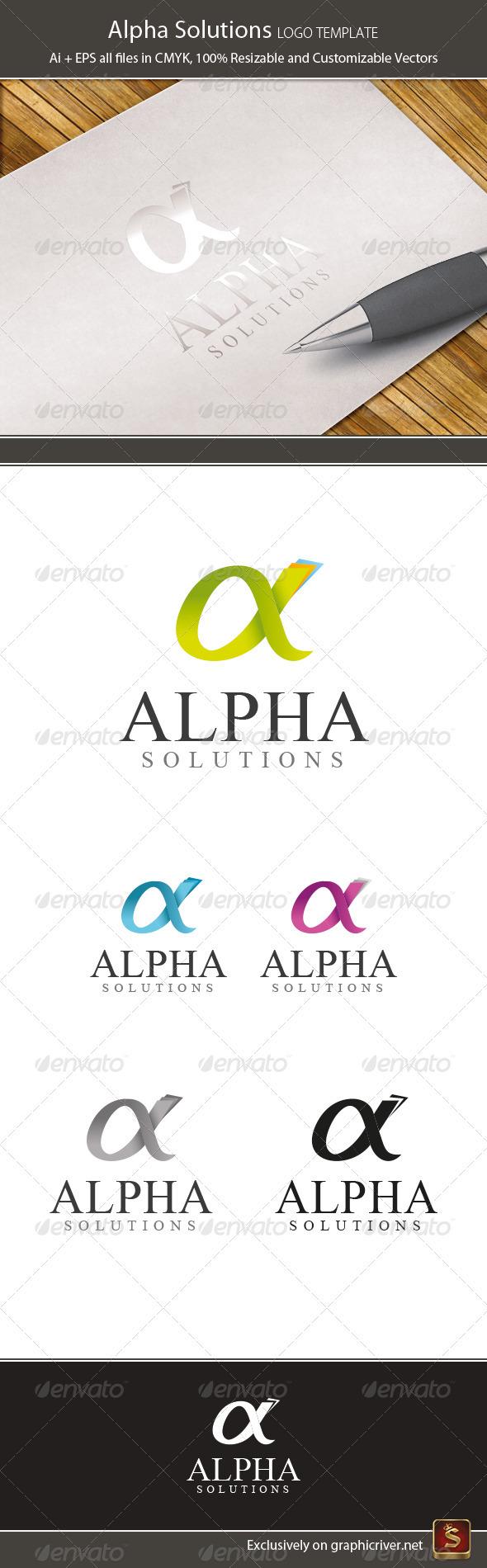 GraphicRiver Alpha Logo Template 3660143