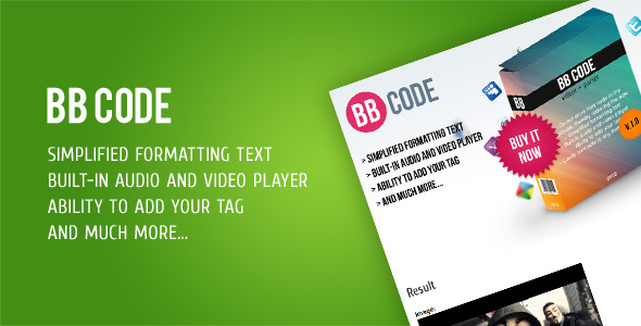 BB Code Editor + Parser - CodeCanyon Item for Sale