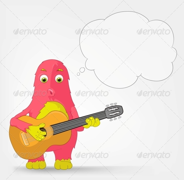 GraphicRiver Funny Monster Guitarist 3660829