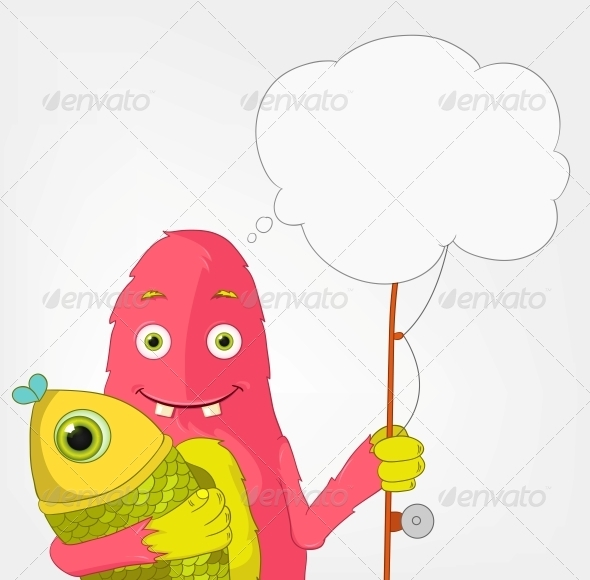 GraphicRiver Funny Monster Fisherman 3661130