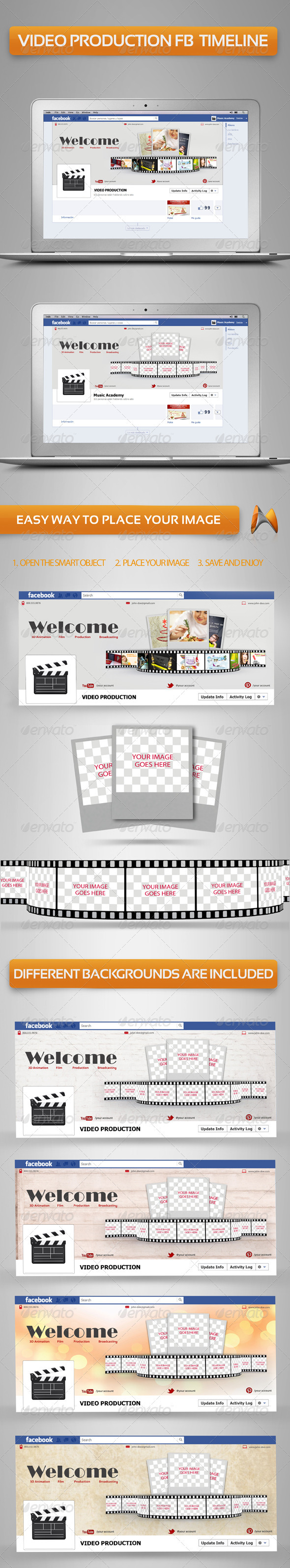 GraphicRiver Video production Fb Timeline 3627359