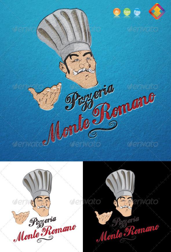 GraphicRiver Pizzeria Monte Romano Logo 3662135