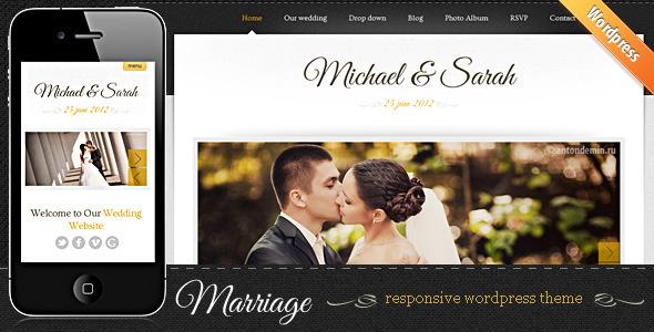ThemeForest Marriage Responsive Wedding Wordpress Theme 2425068