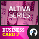 Altiva Series - Business Card 2 - GraphicRiver Item for Sale