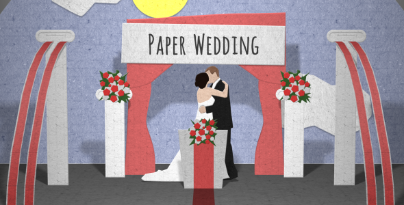 VideoHive Paper Wedding Opening 3664260