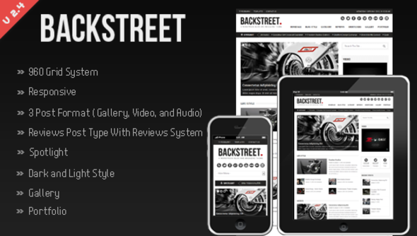 ThemeForest Backstreet Blog & Magazine Theme 1680564