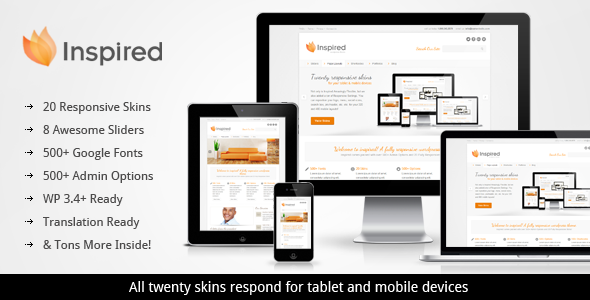 ThemeForest Inspired Responsive Business WordPress Theme 2899892