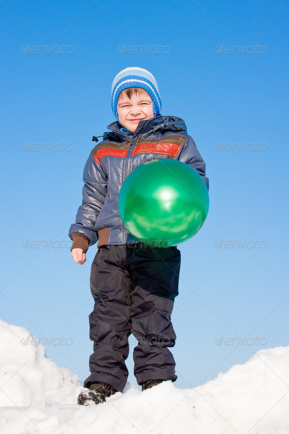 PhotoDune boy with air marbles on nature 3665055