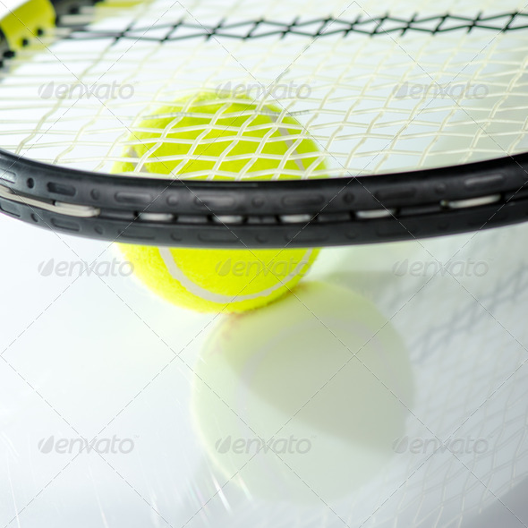 PhotoDune Tennis ball and racket 3665358