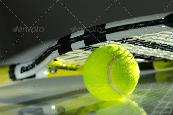 PhotoDune Tennis ball and racket 3665365