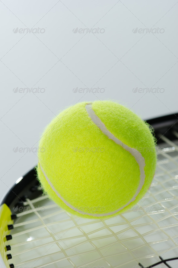 PhotoDune Tennis ball and racket 3665367