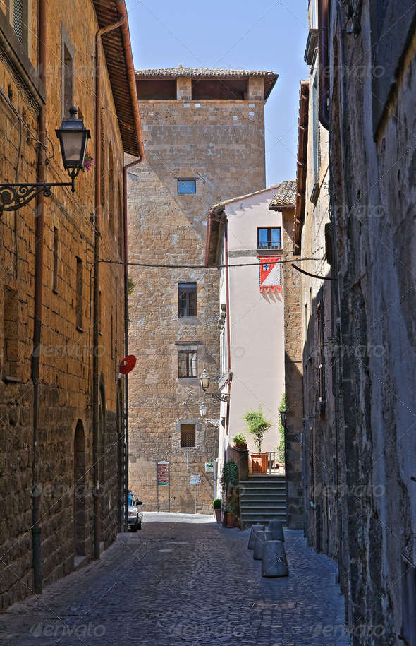PhotoDune Alleyway Orvieto Umbria Italy 3665467