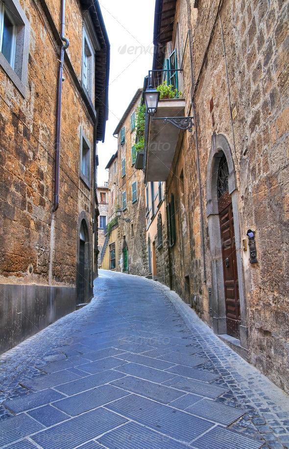 PhotoDune Alleyway Orvieto Umbria Italy 3665480
