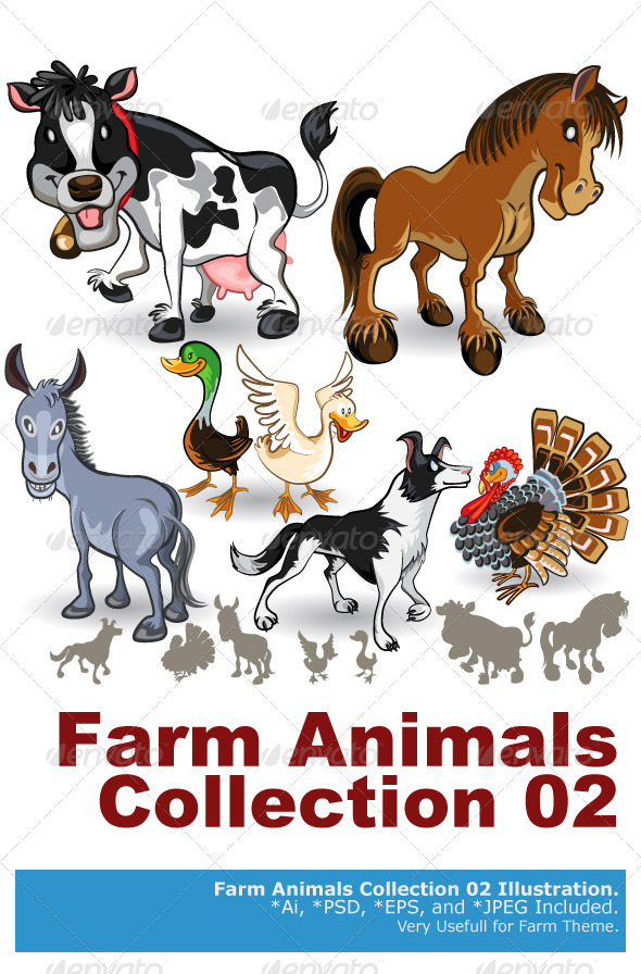 GraphicRiver Farm Animals Collection Set 02 3666026