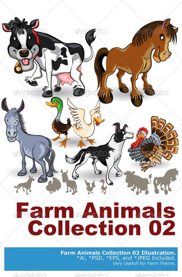 GraphicRiver Farm Animals Collection Set 02 3666026
