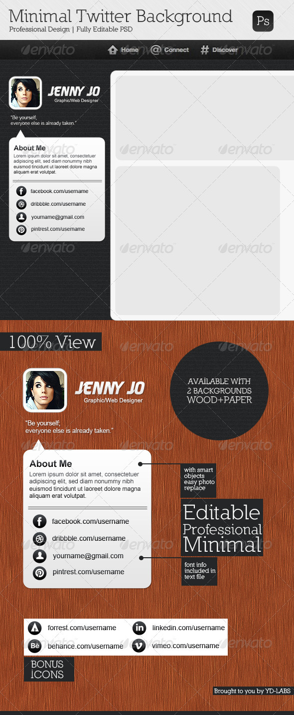GraphicRiver Minimal Twitter Background V6 3666197