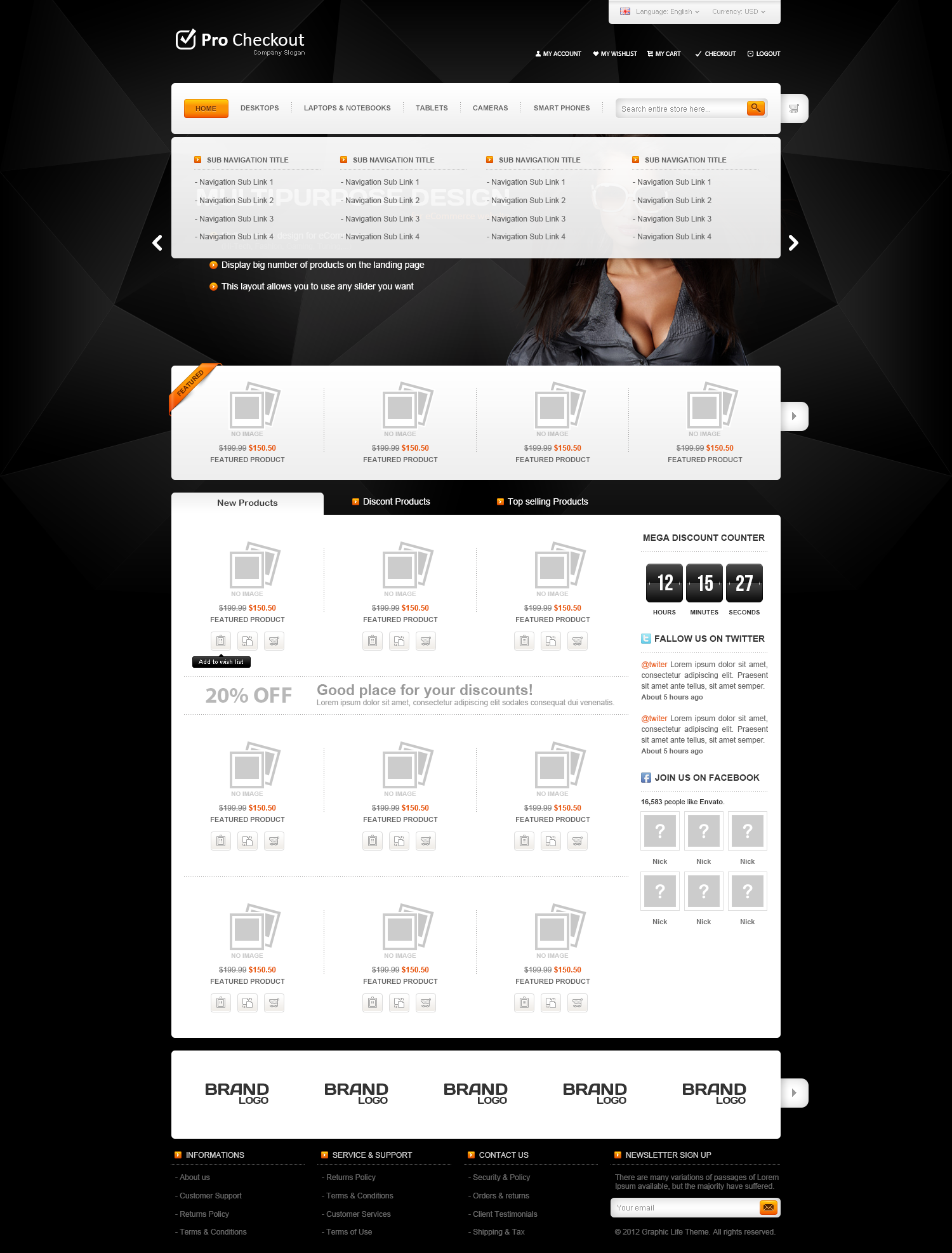 Pro Checkout - eCommerce PSD Template
