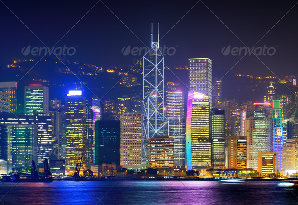 Hong Kong Cityscape - Stock Photo - Images