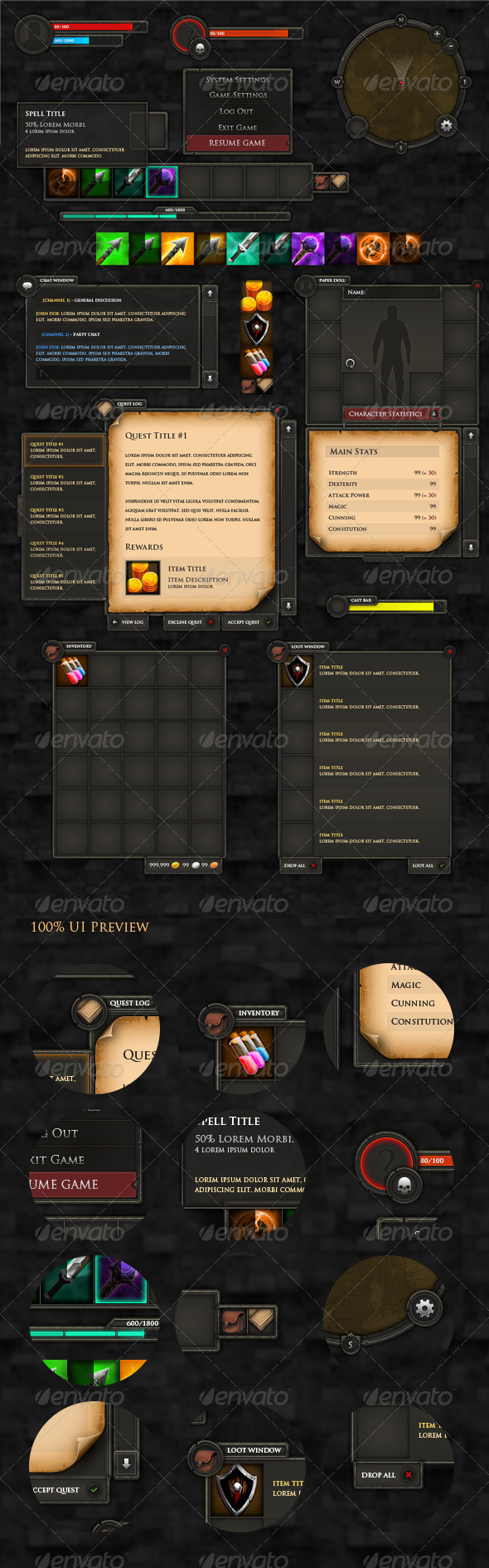GraphicRiver RPG User Interface 3525764