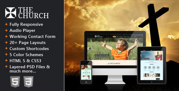 The Church - Responsive Site Template - Churches Nonprofit
