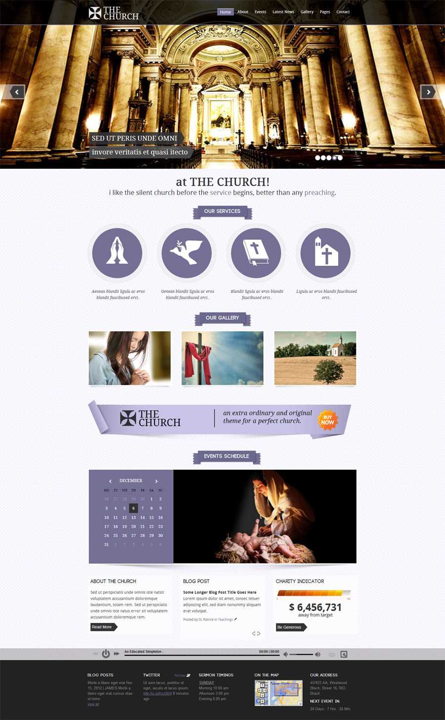 The Church - Responsive Site Template
