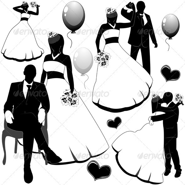 GraphicRiver Wedding Pairs 3668129