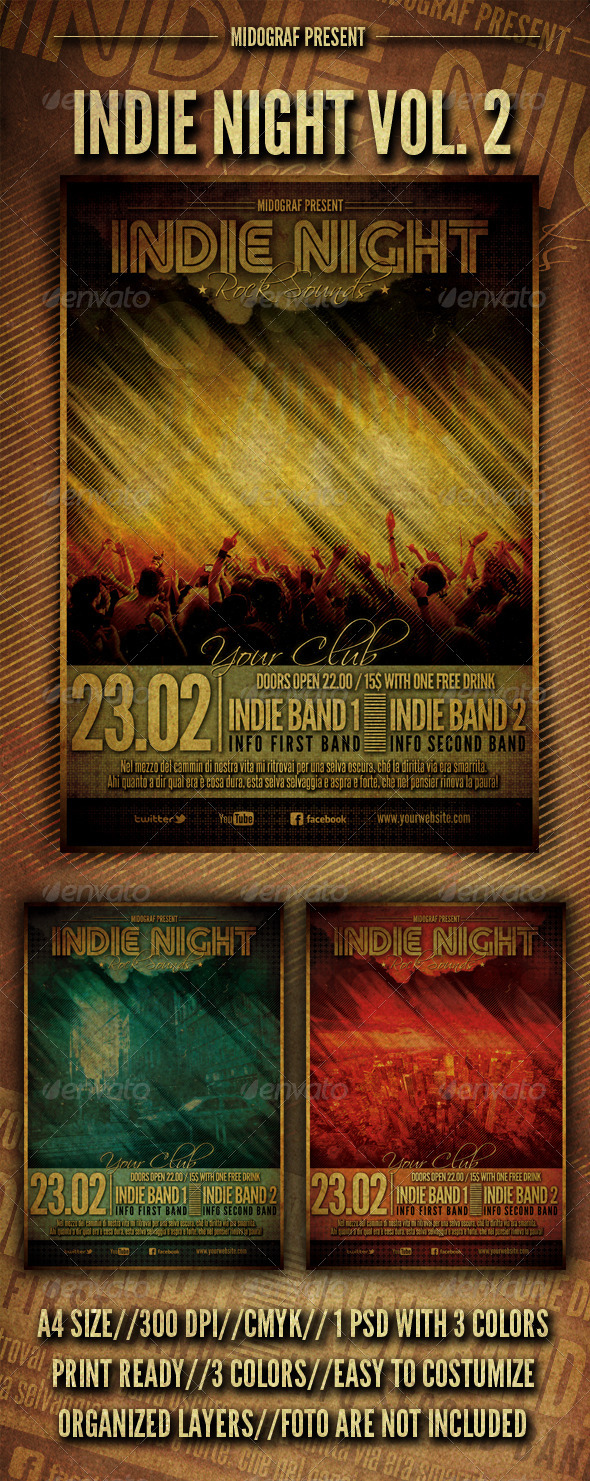 GraphicRiver Indie Night Flyer Vol.2 3608120
