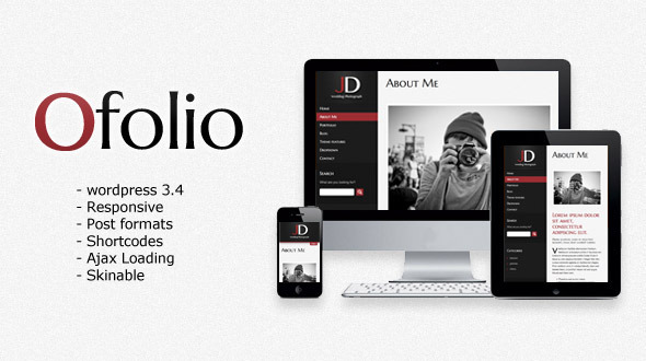 ThemeForest O Folio Wordpress Responsive Portfolio 3270343