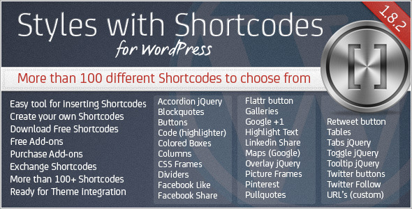 CodeCanyon Styles with Shortcodes for WordPress 142221