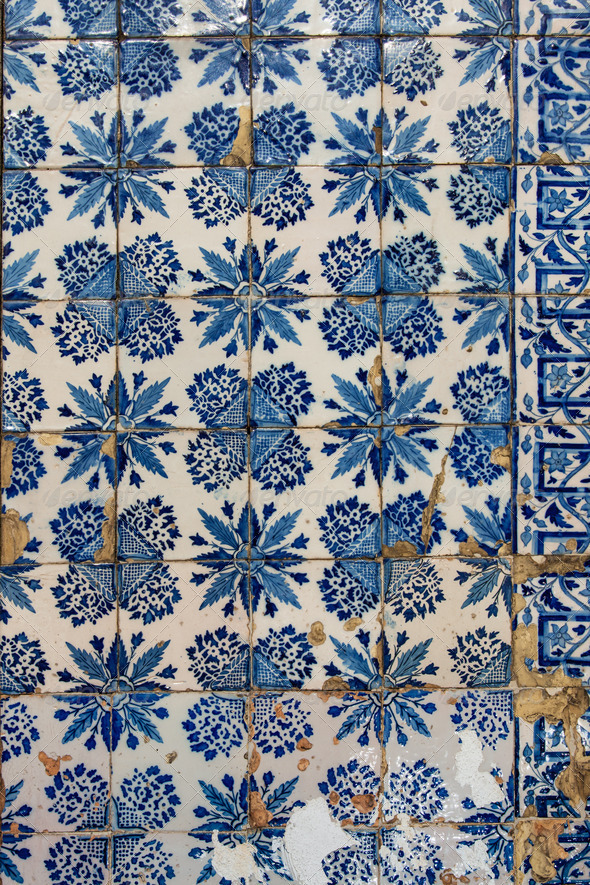 Azulejo - Old Tile Background - Stock Photo - Images