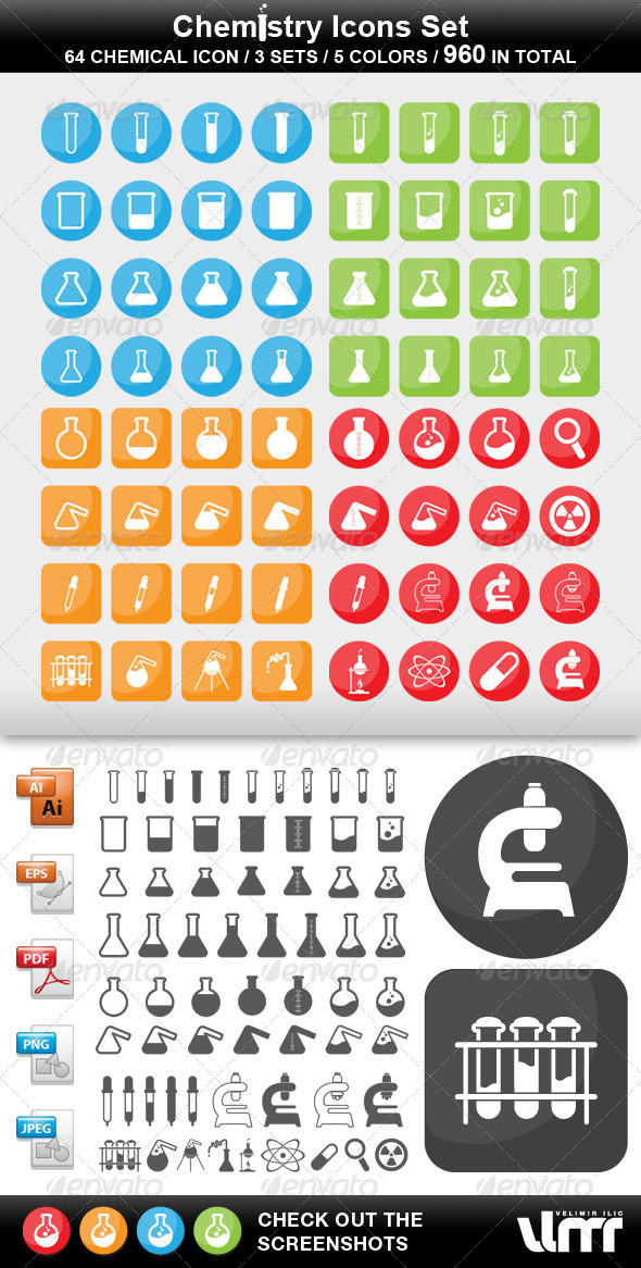 GraphicRiver Chemistry Icons 3669707