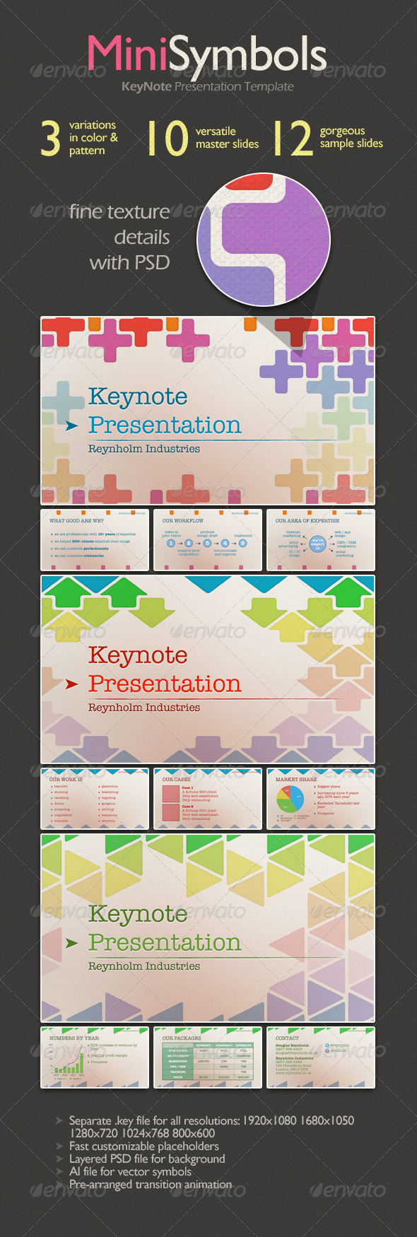 GraphicRiver MiniSymbols Keynote Presentation Template 3638660