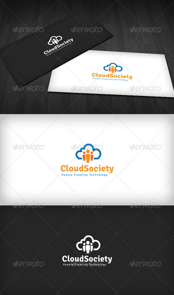 GraphicRiver Cloud Society Logo 3670496