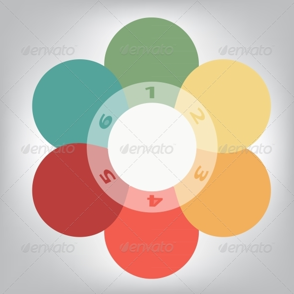 GraphicRiver Concept of Colorful Circular Banners in Flower 3670691