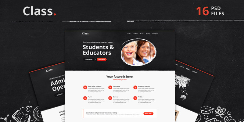 Class | Education PSD Theme